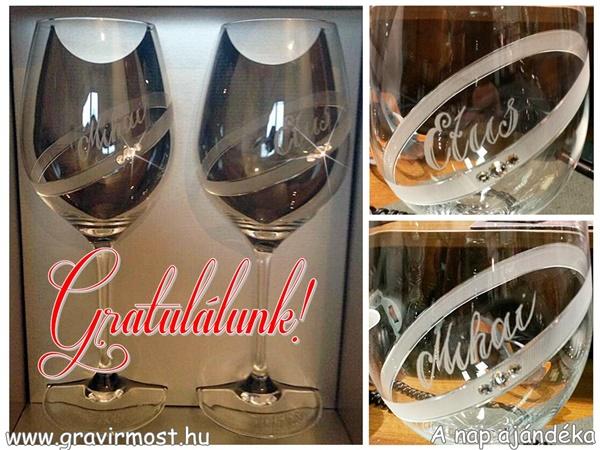 swarovski borospohár gyűrűs etus mihai